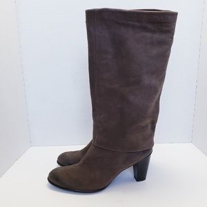 Paul Green Suede Tall Heeled Boots